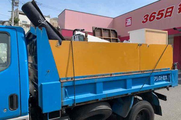 小倉南区で2トン車一杯の不用品