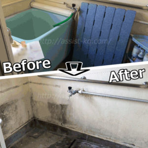 風呂場の原状回復工事