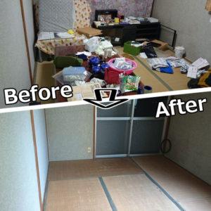 和室の不用品回収事例