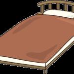 ベッドフレームの解体作業