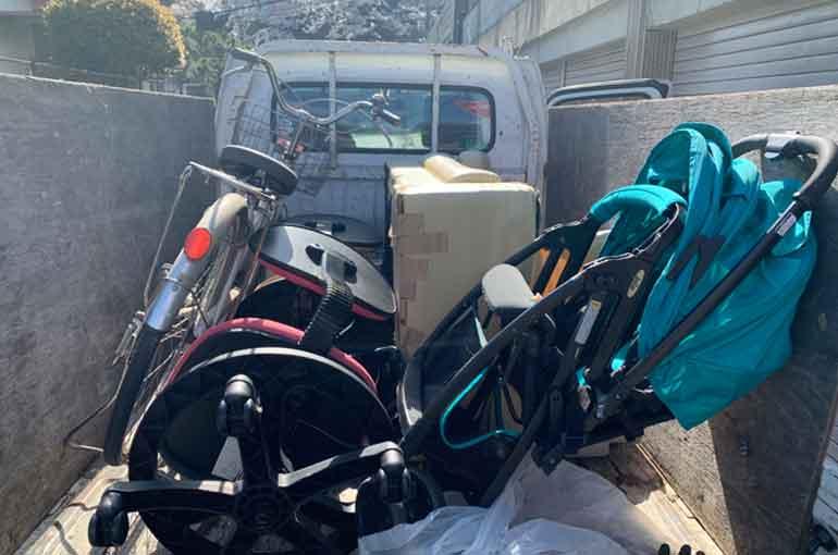 自転車等の少量ごみ回収