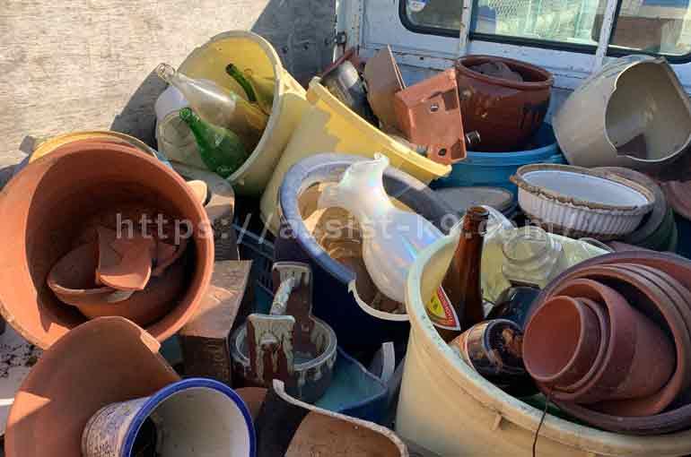 北九州市で火鉢や水瓶、漬物石などの不用品を回収