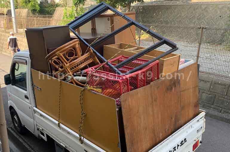 鏡台(ドレッサー)などを積み放題の軽トラパックで回収