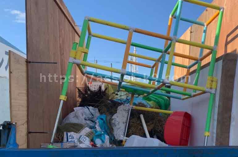 北九州市で室内用ジャングルジム(ブランコ・滑り台付き)などの粗大ゴミを回収