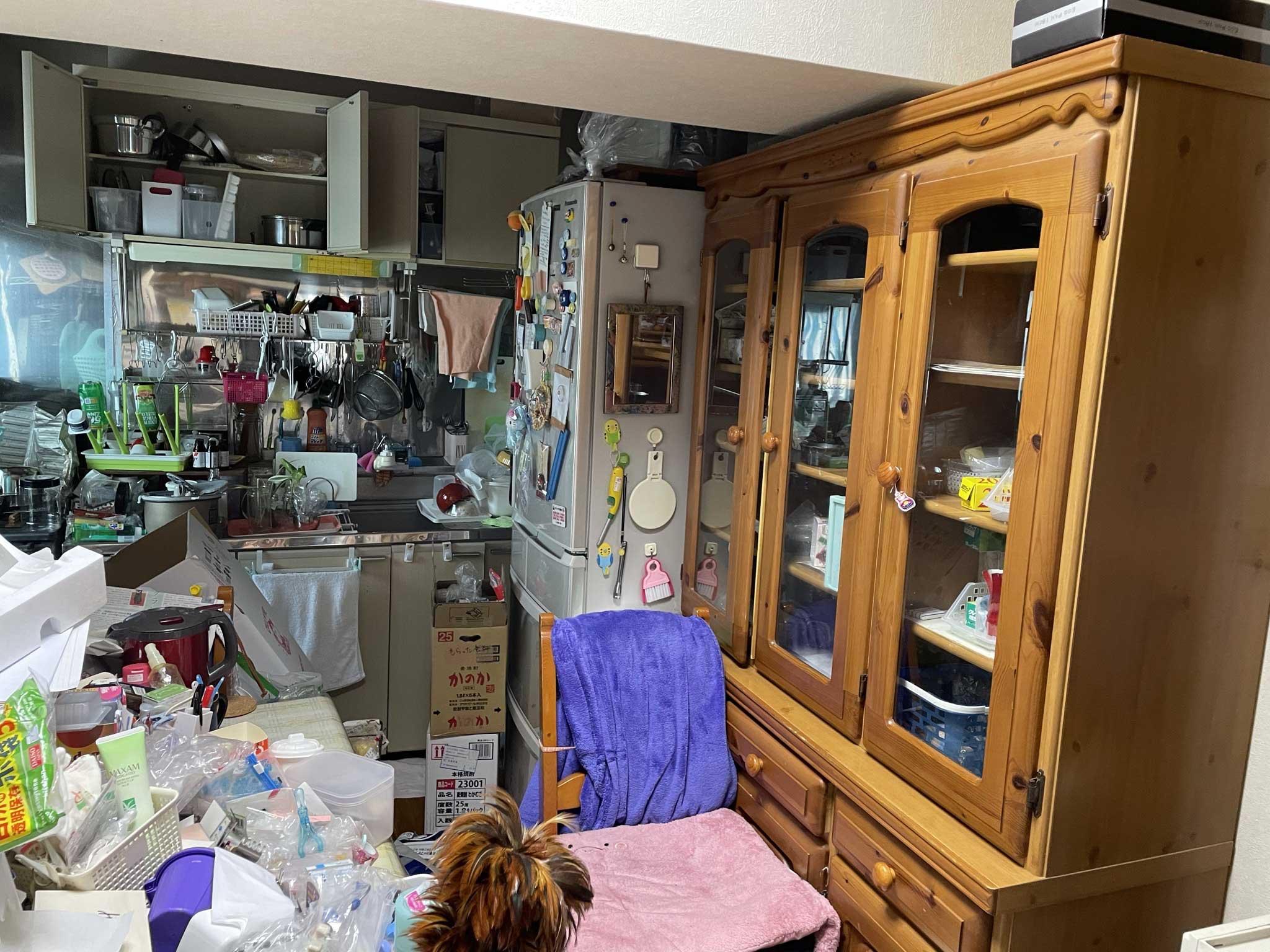 冷蔵庫や食器棚 ビフォー