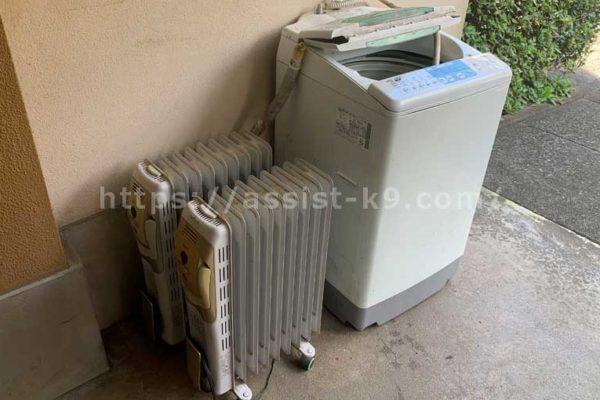 洗濯機とオイルヒーター