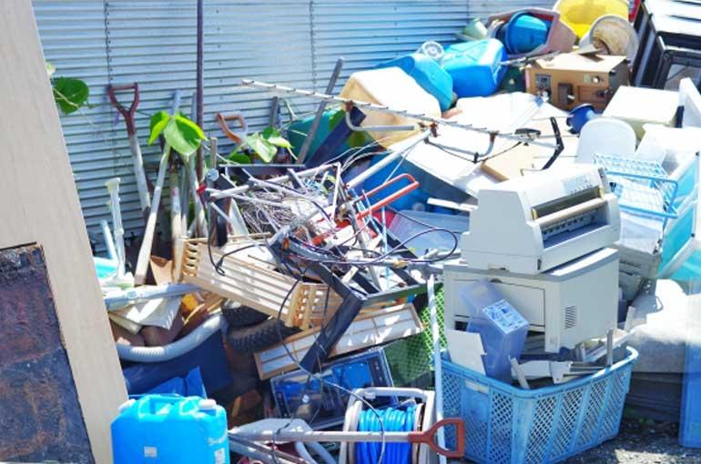 粗大ごみ回収日のゴミ置き場